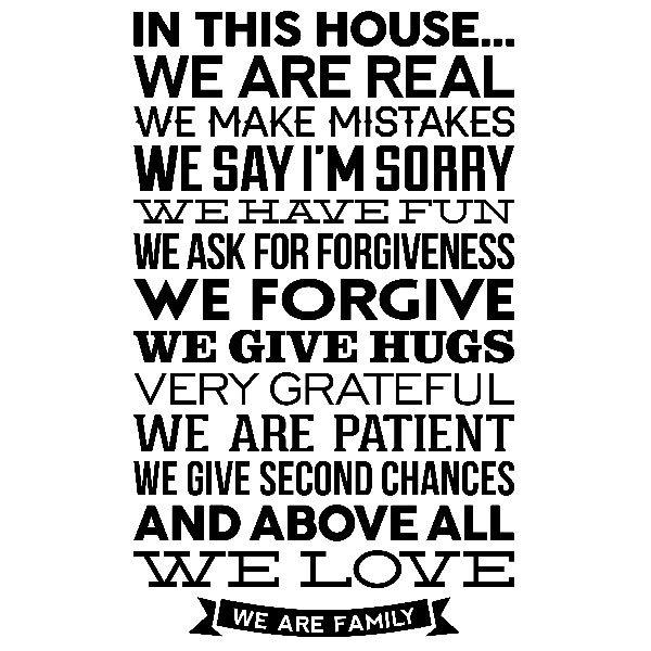 Wandtattoos: In this house we are real...