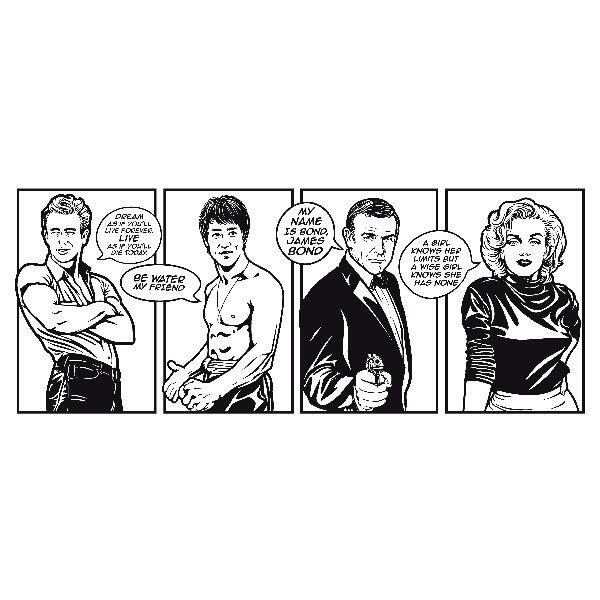 Wandtattoos: Comic Stars