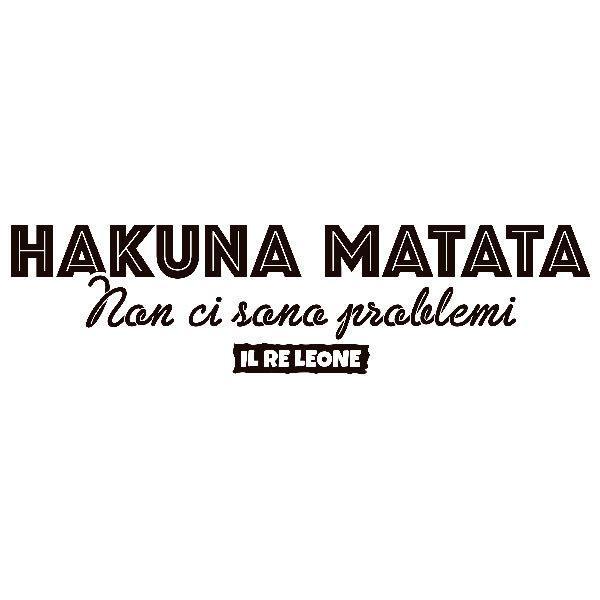 Wandtattoos: Hakuna Matata in Italienisch