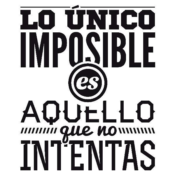 Wandtattoos: Lo único imposible es...