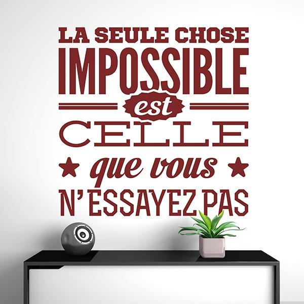 Wandtattoos: La seule chose impossible est celle que vous...