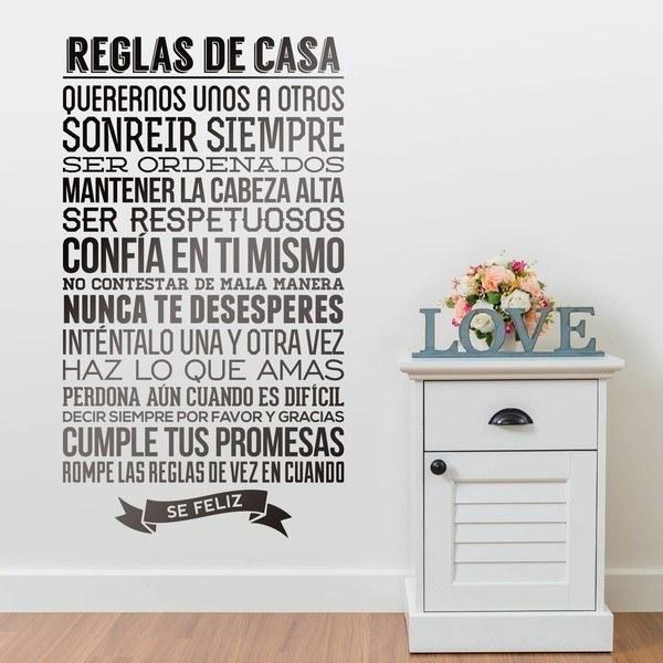 Wandtattoos: Reglas de la Casa
