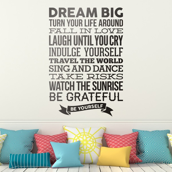 Wandtattoos: Dream big and be yourself