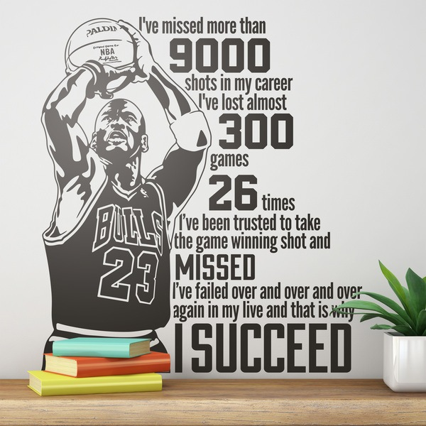 Wandtattoos: The success of Michael Jordan