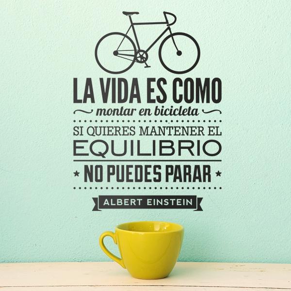 Wandtattoos: La vida es como montar en bicicleta...
