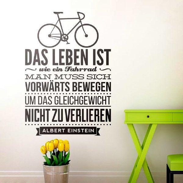 Wandtattoos: Das leben ist wie ein fahrrad...