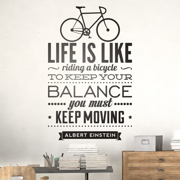 Wandtattoos: Life is like riding a bicycle