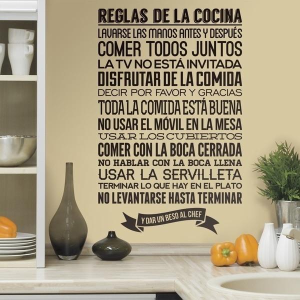 Wandtattoos: Reglas de la Cocina
