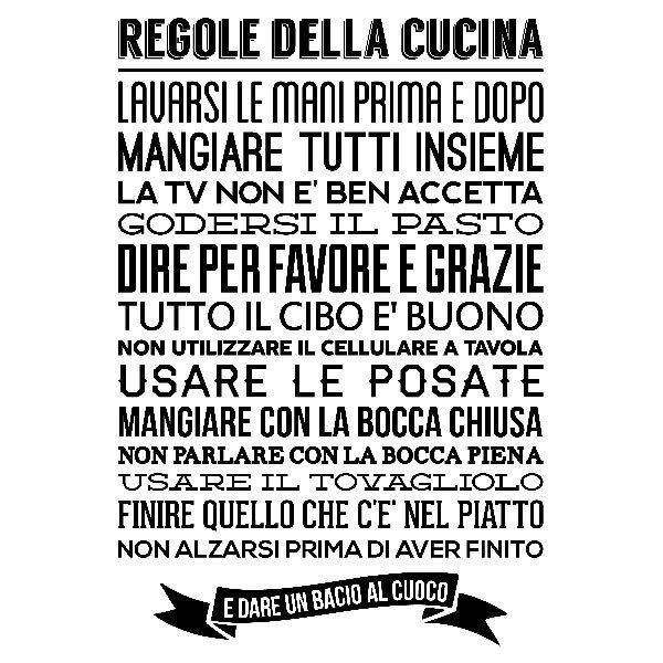 Wandtattoos: Regole de la Cucina