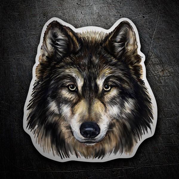 Aufkleber: Wolf 1