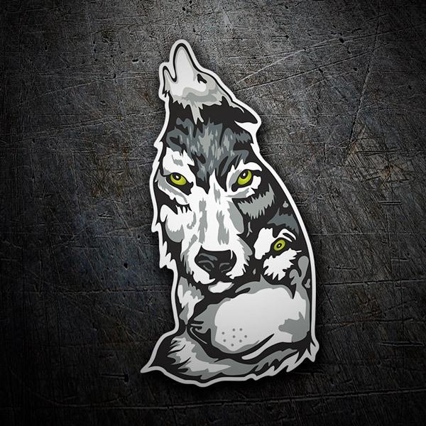 Aufkleber: Wolf 2