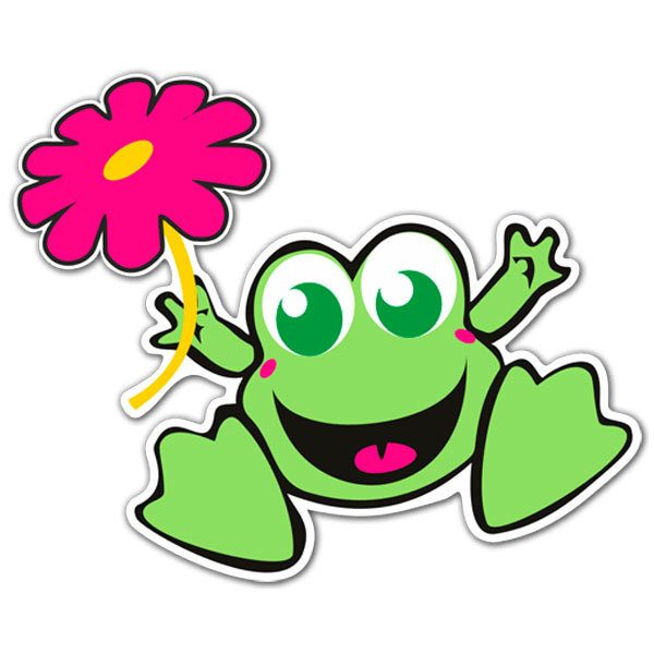 Aufkleber: Frog 1