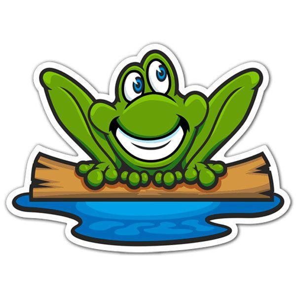 Aufkleber: Frog