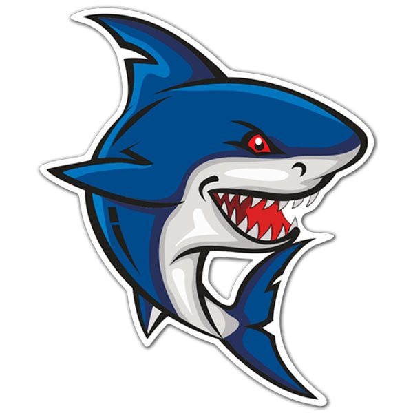 Aufkleber: Hai