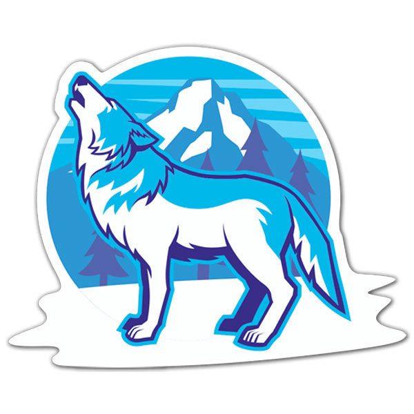 Aufkleber: White Wolf