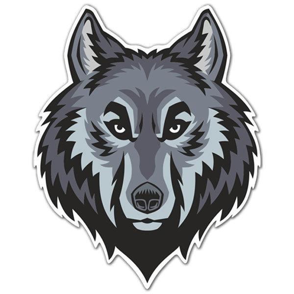 Aufkleber: Wolfskopfhead 2