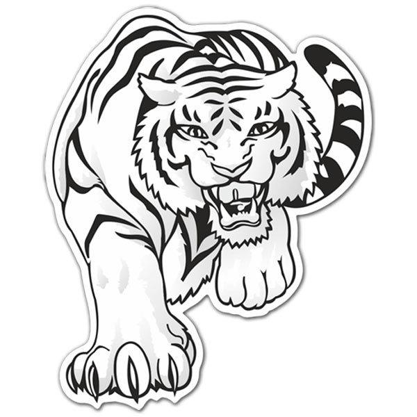Aufkleber: White Bengal Tiger