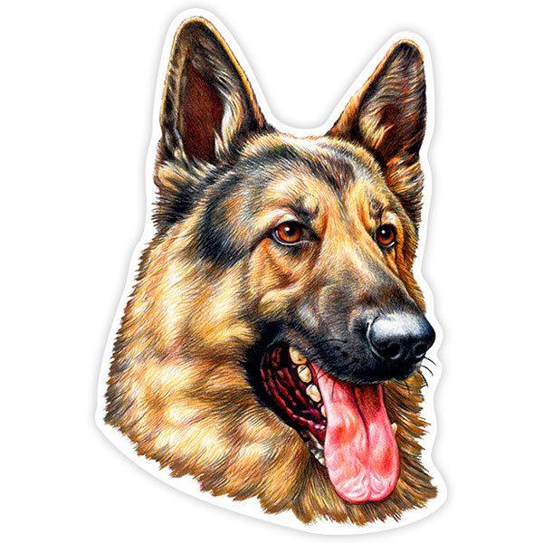 Aufkleber: German Shepherd