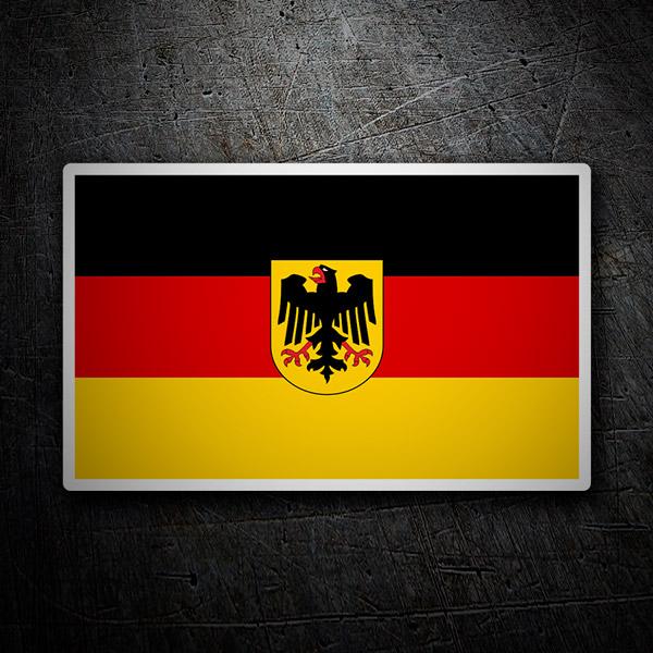 Aufkleber: Deutschland Flagge