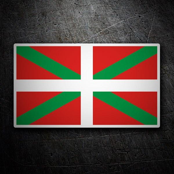 Aufkleber: Baskische Flagge