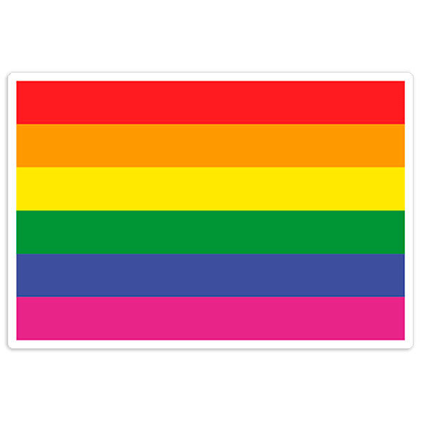 Aufkleber: Regenbogen-Flagge