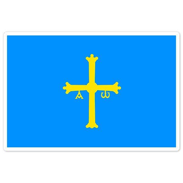 Aufkleber: Asturias flag