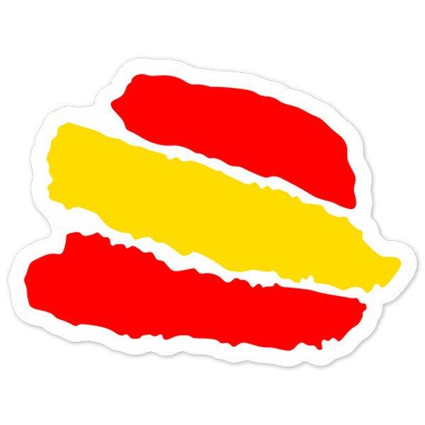 Aufkleber: Stiftstriche Spanien