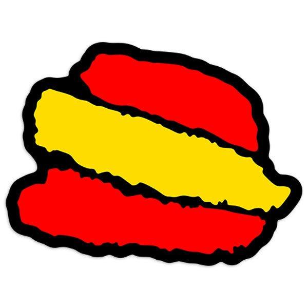 Aufkleber: Stiftstriche Spanien 2