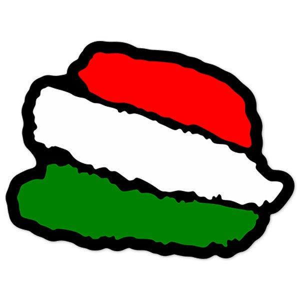 Aufkleber: Stiftstriche Italien