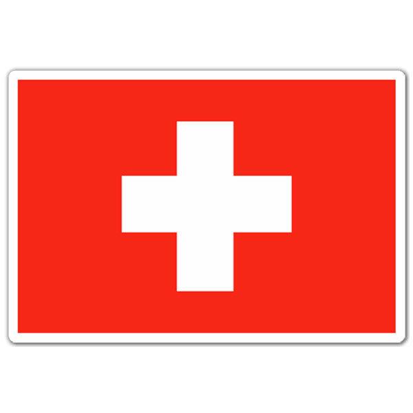Aufkleber: Flagge der Schweiz