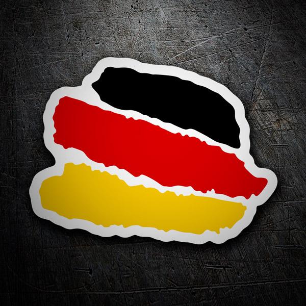 Aufkleber: Stiftstriche Deutschland
