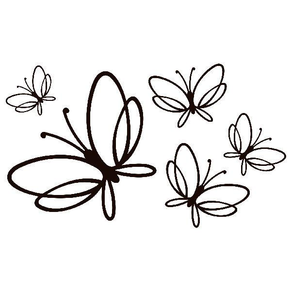 Wandtattoos: Schmetterlinge Noltea
