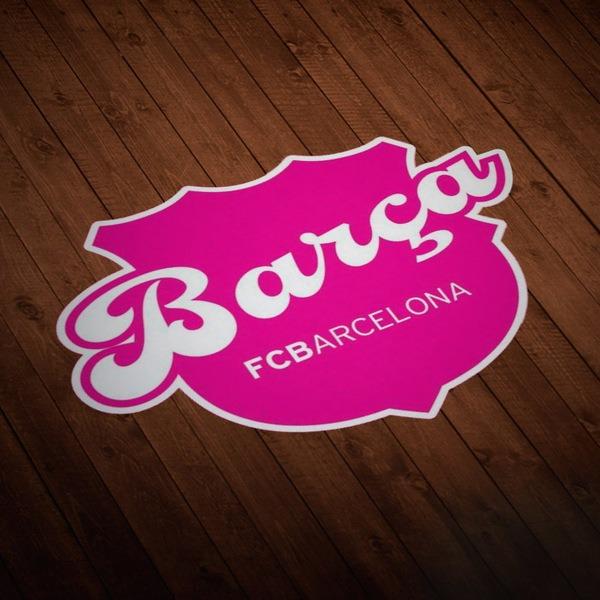 Aufkleber: Futbol Club Barcelona pink