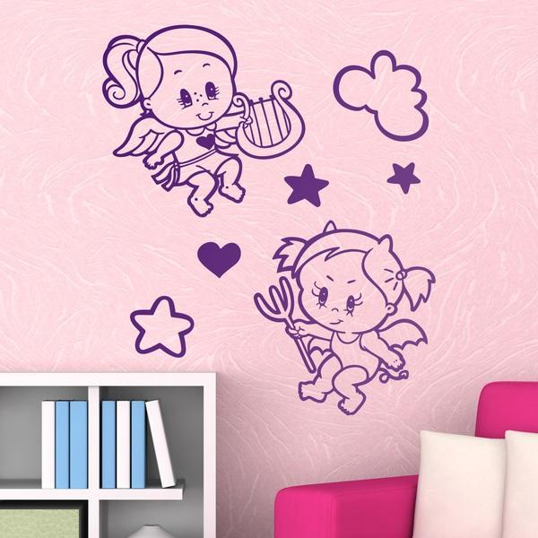 Kinderzimmer Wandtattoo: Engel und Teufel
