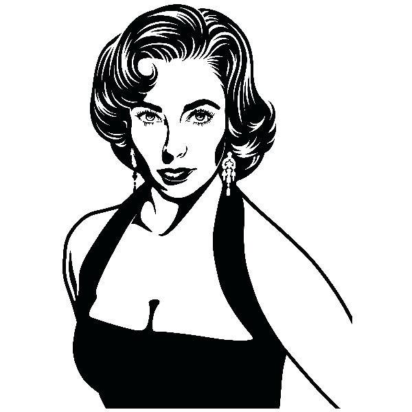Wandtattoos: Elizabeth Taylor