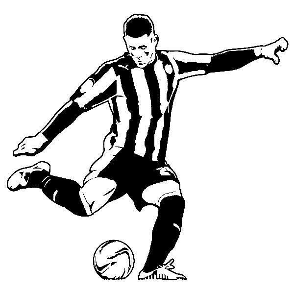 Wandtattoos: Fußballspieler