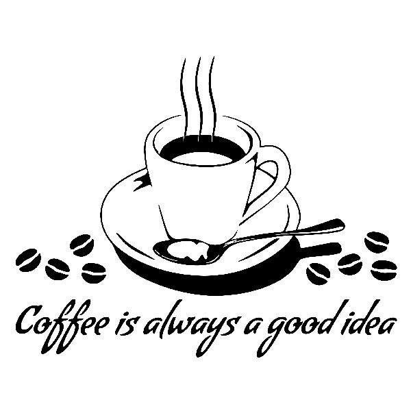 Wandtattoos: Coffee is always a good idea
