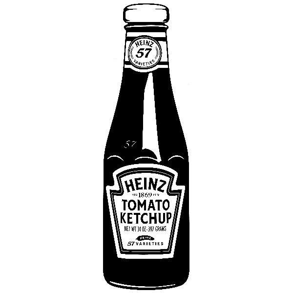 Wandtattoos: Heinz Ketchup