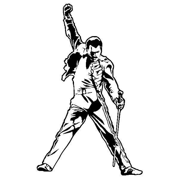 Wandtattoos: Freddie Mercury