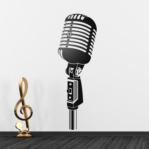 Wandtattoos: Vintage-Mikrofon