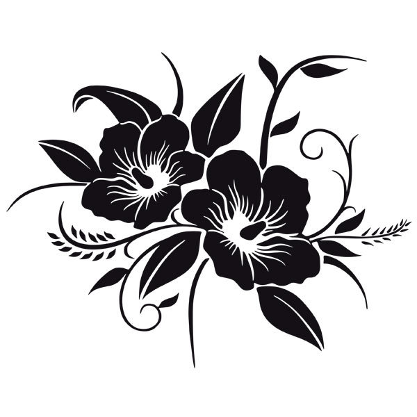Wandtattoos: Hawaii-Blumen
