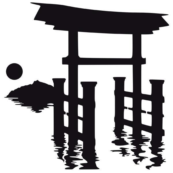Wandtattoos: Torii-Tor in Japan