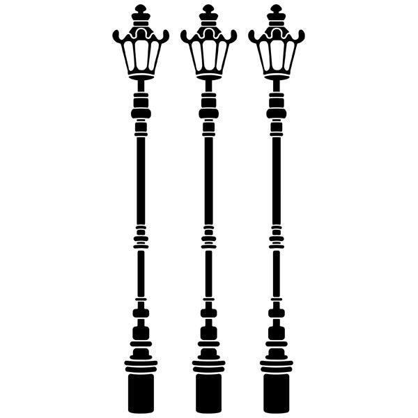 Wandtattoos: Drei Lampenpfosten