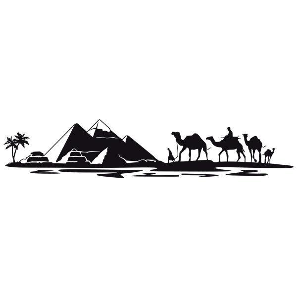 Wandtattoos: Pyramiden in der Wüste