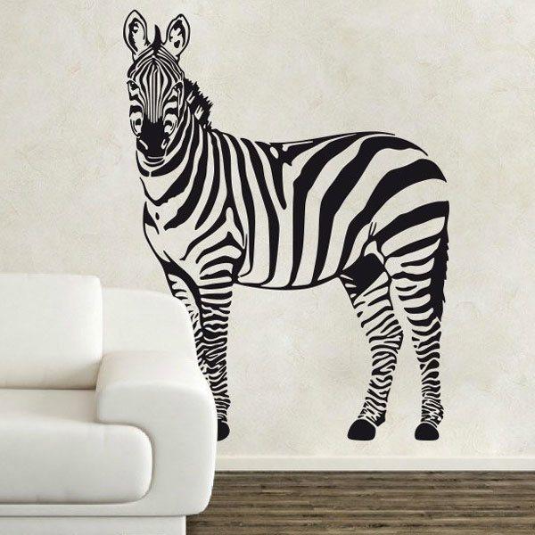 Wandtattoos: Zebra