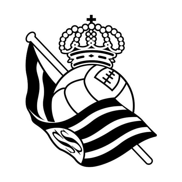 Wandtattoos: Real Sociedad de San Sebastián wappen