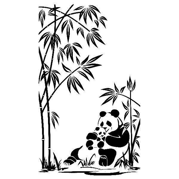 Wandtattoos: Panda-Bären und Bambus