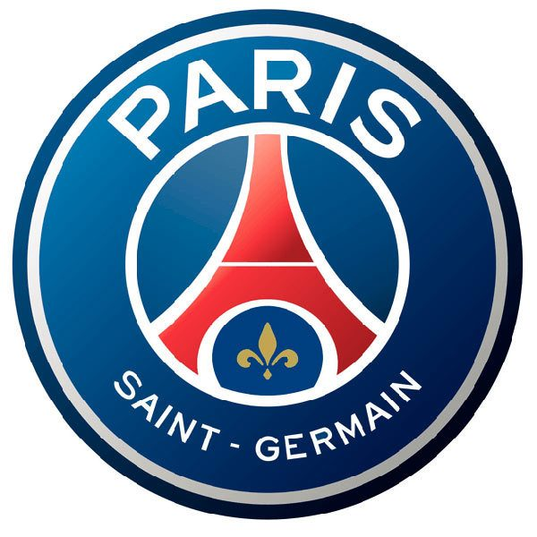 Wandtattoos: Paris Saint-Germain FC wappen Farbe