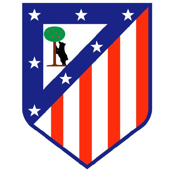 Wandtattoos: Atlético de Madrid wappen Farbe