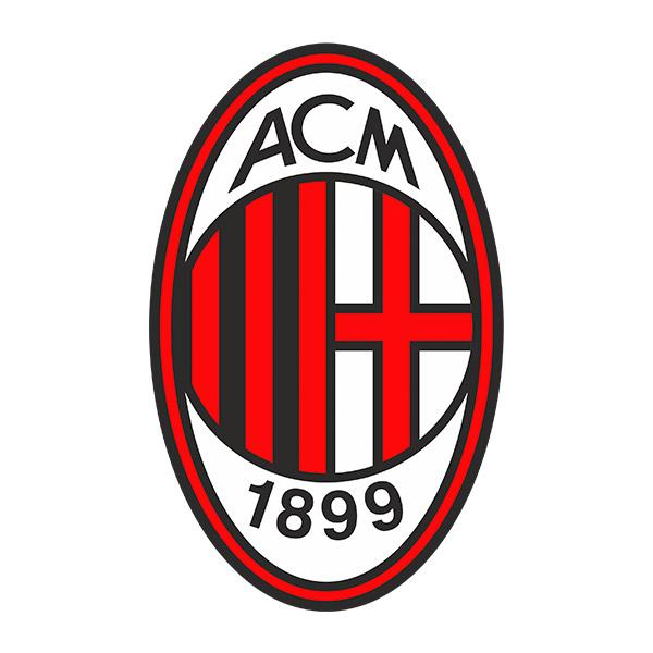 Wandtattoos: AC Milan wappen Farbe